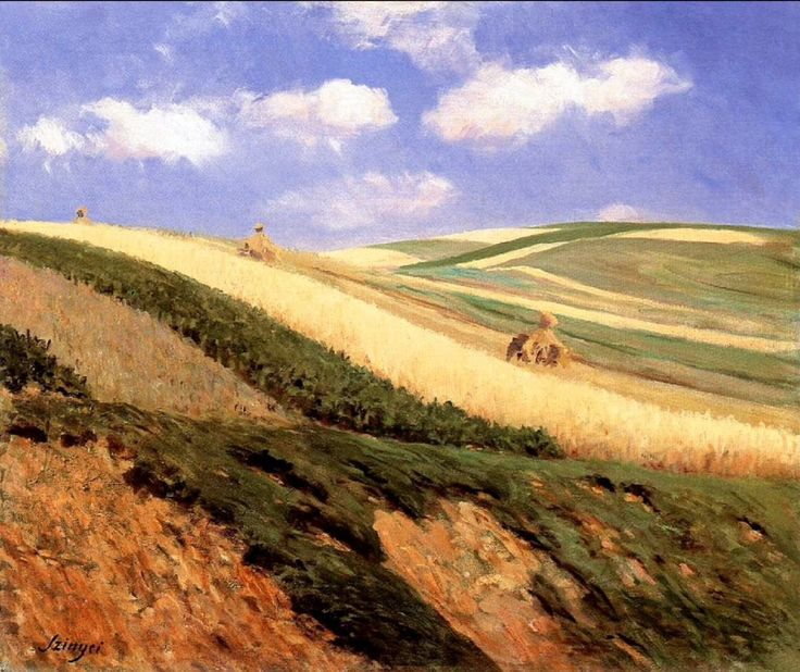 art-centric:  Szinyei Merse, Pal (1845-1920) - 1909 Field (Herman Otto Museum, Miskolc, Hungary)