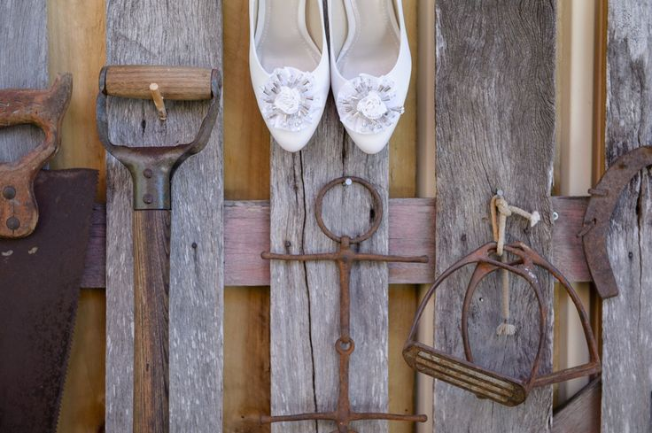 My wedding shoes resting on my dad's shed out the back. These shoes were ridic comfortable