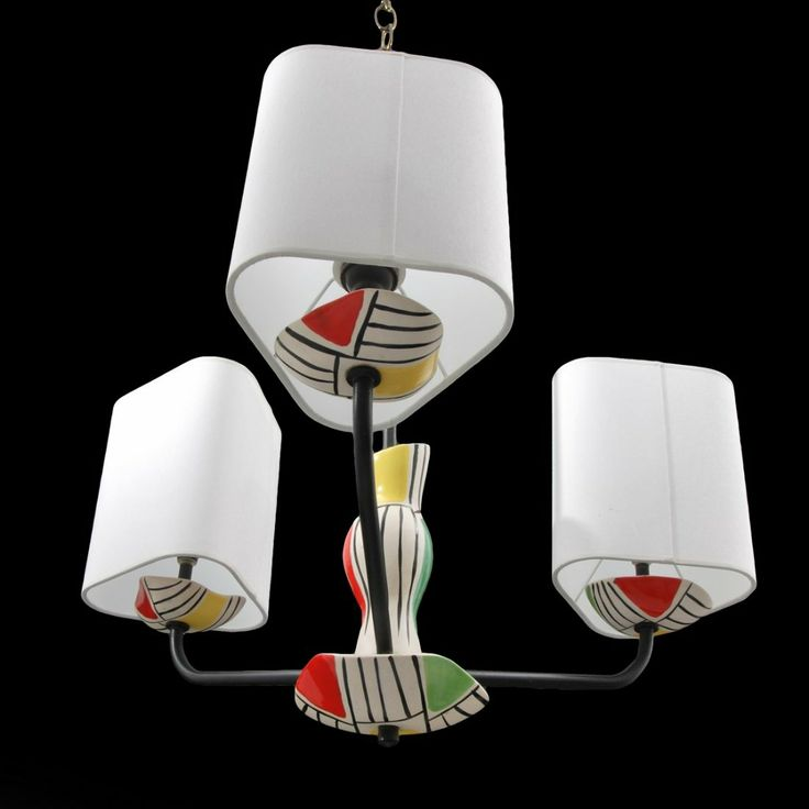 Roger capron chandelier on ceramic tableceramic artsmall