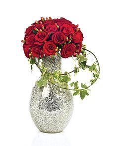 Singapore Flowers: Flower Vase - Red Roses!