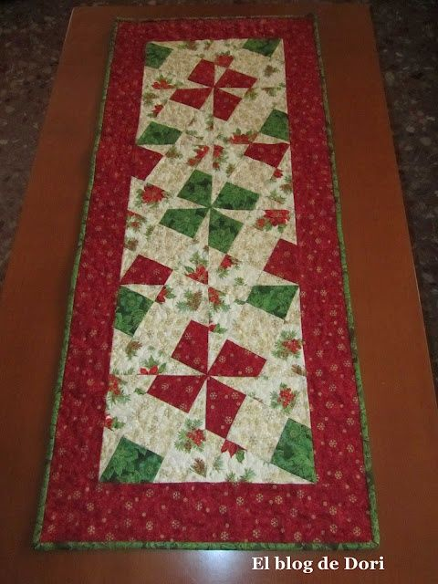 Tutoriales de patchwork camino de mesa navide o quilts - Camino mesa patchwork ...