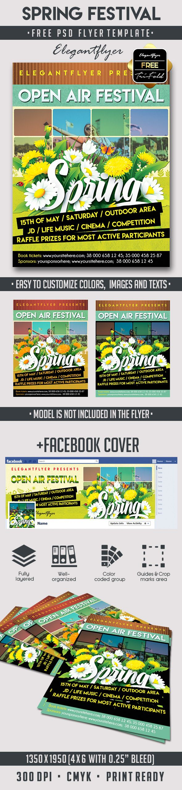 17 best ideas about psd flyer templates psd spring festival psd flyer template elegantflyer com