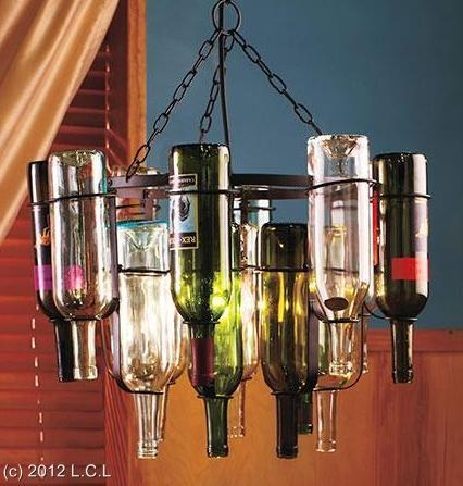 Unique 16 wine bottle chandelier frame light stained glass for How to make your own wine bottle chandelier