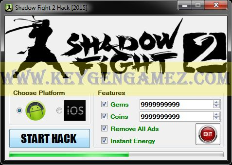 Are you looking for Shadow Fight 2 Hack? If the answer is YES, you're lucky because you're exactly where you want to be. In this article you will find out some things about how to Remove All Ads, how to get Instant Energy and how to add as many Coins and Gems you want with Shadow Fight 2 Hack software for Shadow Fight 2 video game.