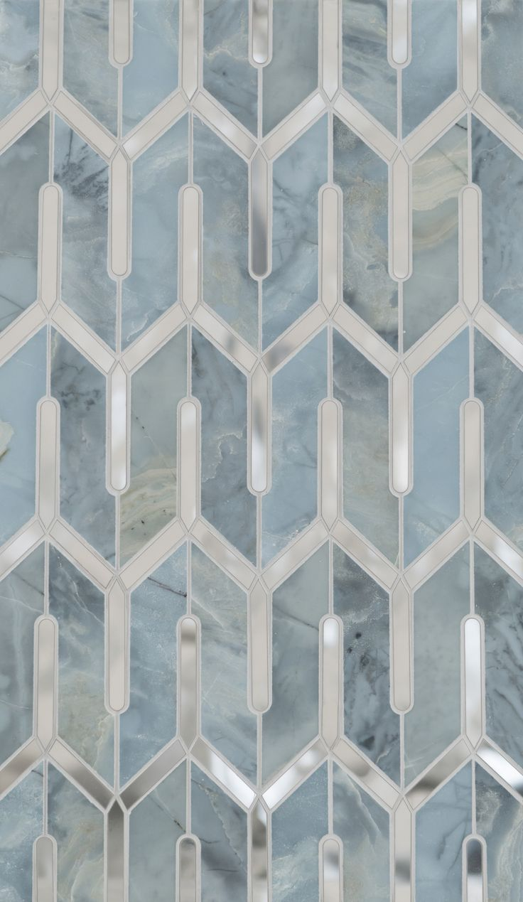 Chicago Petite Water Jet Mosaic by Mosaïque Surface This type tile for Master shower mosaic, not blue. In Carrara Bella (White and Grey look)