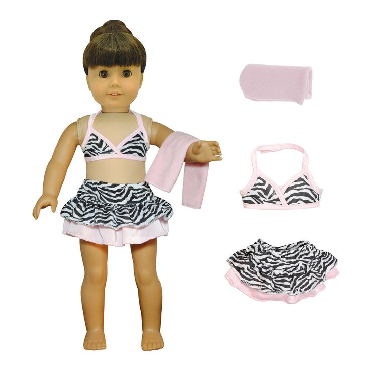 - Beautiful Bikini Set and Beach Blanket. - Fits all American Girl dolls and Madame Alexander 18'' Inch Dolls. Unique Doll Outfit Design. - Shoes and Doll not included Pink Butterfly Closet ® is a reg