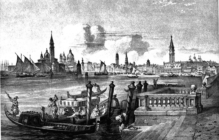 This Day in History: Mar 25, 421: Venice is founded at twelve o'clock noon http://dingeengoete.blogspot.com/ http://upload.wikimedia.org/wikipedia/commons/c/ca/Venezia_panoramic_c1850.jpg