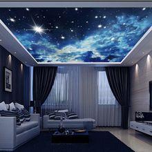 Estrela universo papel de parede 3d papel de parede para paredes 3 d grande 3d mural papel de parede adesivos de parede sala de jantar à prova d ' água(China (Mainland))