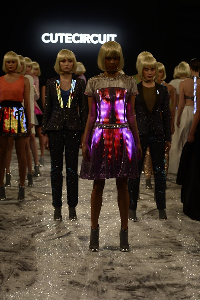 Smart Textiles: CuteCircuit is taking their smart textiles to the runway, where models used their mobile phones to light up the dresses. They have brought highly innovative ideas to the fashion world by combining smart textiles and micro-electronics whilst still being functional.