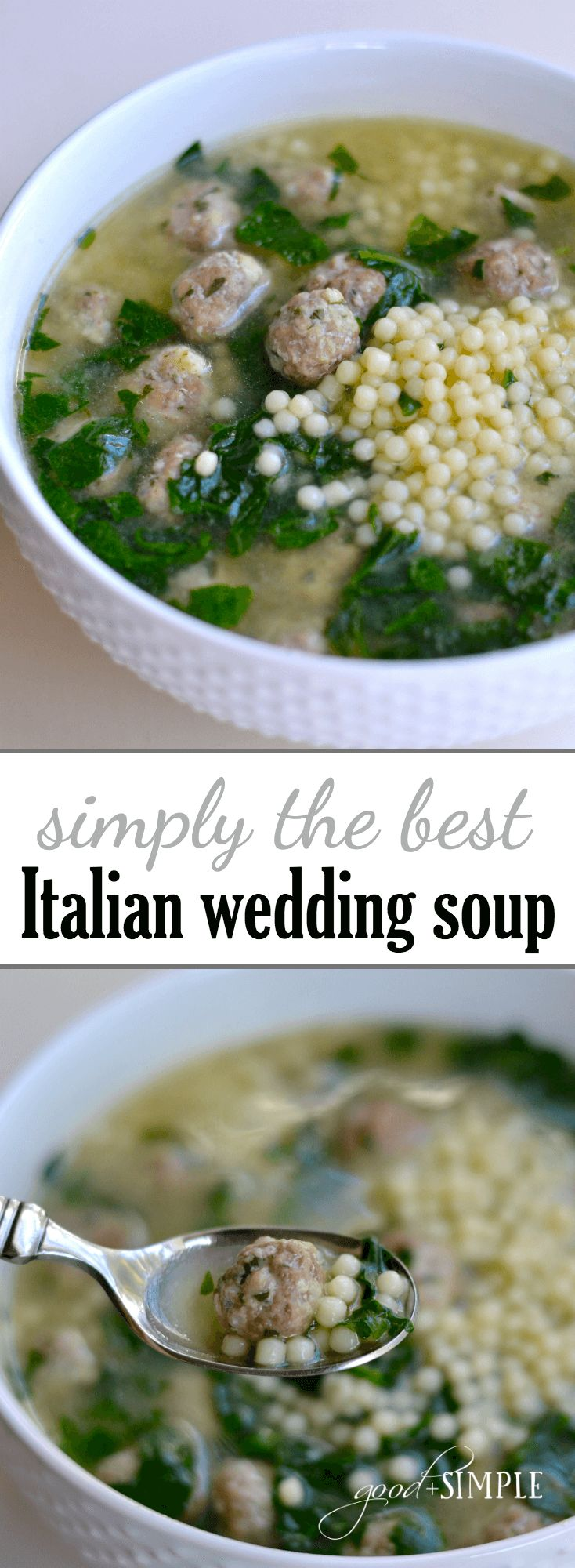 I combined the best elements of various Italian wedding soup recipes to create…