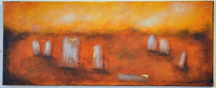 """GHOST TOWN"" by artist Gillian Roulston - Buy Western Australian Art Online from Out of the Box Biz"