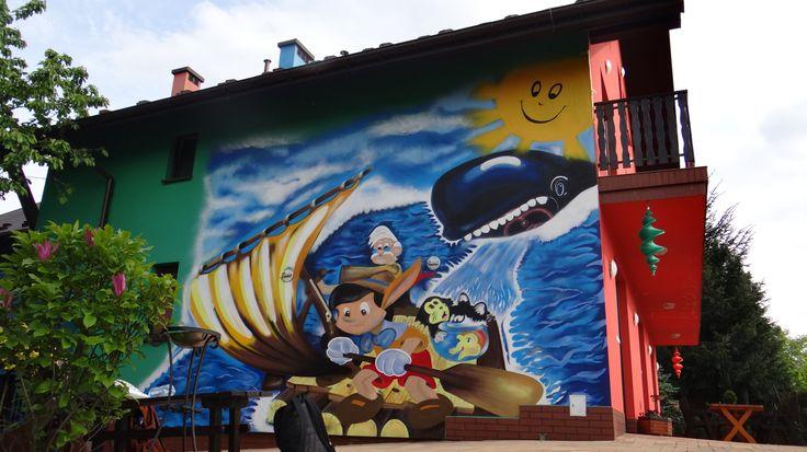 Wieliczka . mural małopolska