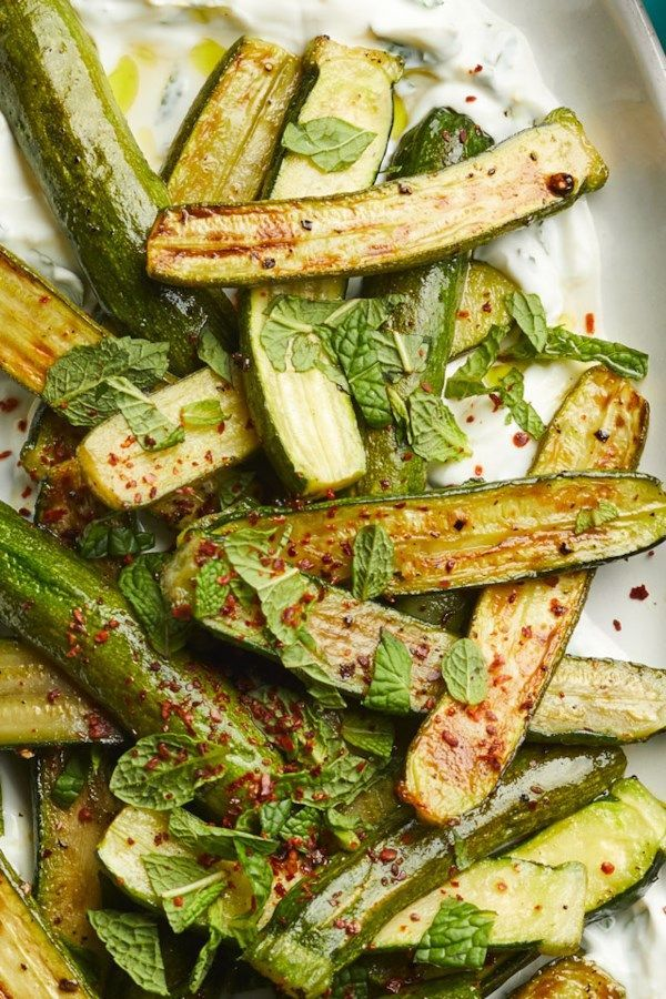 Roasted Baby Zucchini With Lemon Labneh Recipe Vegetable Side Dishes Vegetable Sides Easy Vegetable Side Dishes