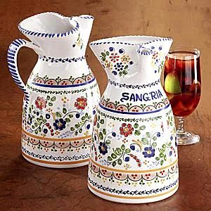 LaTienda.com - Sangria Pitcher from Spain - Hand-painted Flor Pattern