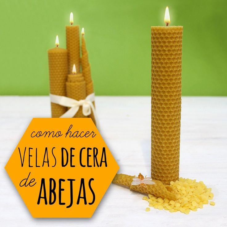 Hacer velas de cera de abeja
