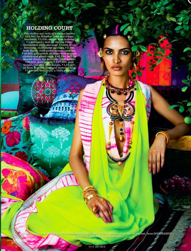 ahhh! so beautiful and yet balanced! Elle India Editorial by Tarun Vishwa | Couture Rani