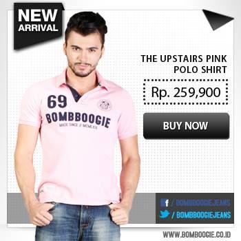 Tampil manis dengan polo shirt pink ini yuk. Dapatkan koleksinya hanya di: www.bombboogie.co.id
