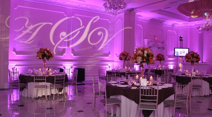 Beautiful #monogram #gobo projected onto a wall and paired with #uplighting. #rentmywedding #wedding   Pinterest   Weddings Wedding and Wedding lighting & Beautiful #monogram #gobo projected onto a wall and paired with ... azcodes.com