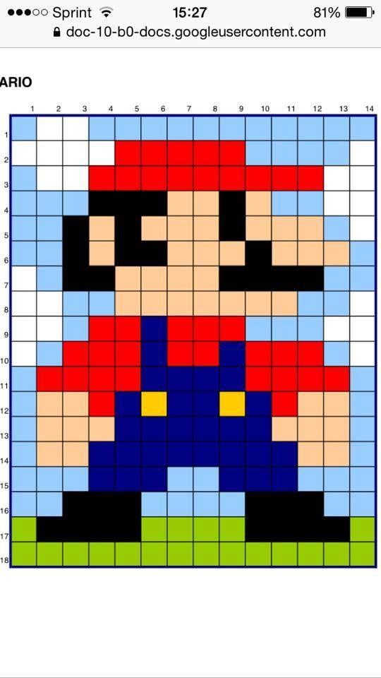 Mario blanket -- granny squares for pixels