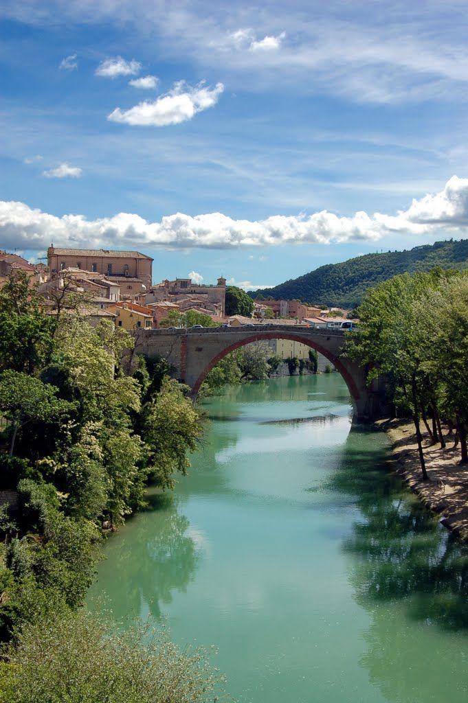 Ponte della Concordia, Fossombrone, Pesaro-Urbino,  Marche , Italy
