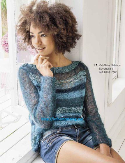 Пуловер Вязаный Спицами Легкий как Облако