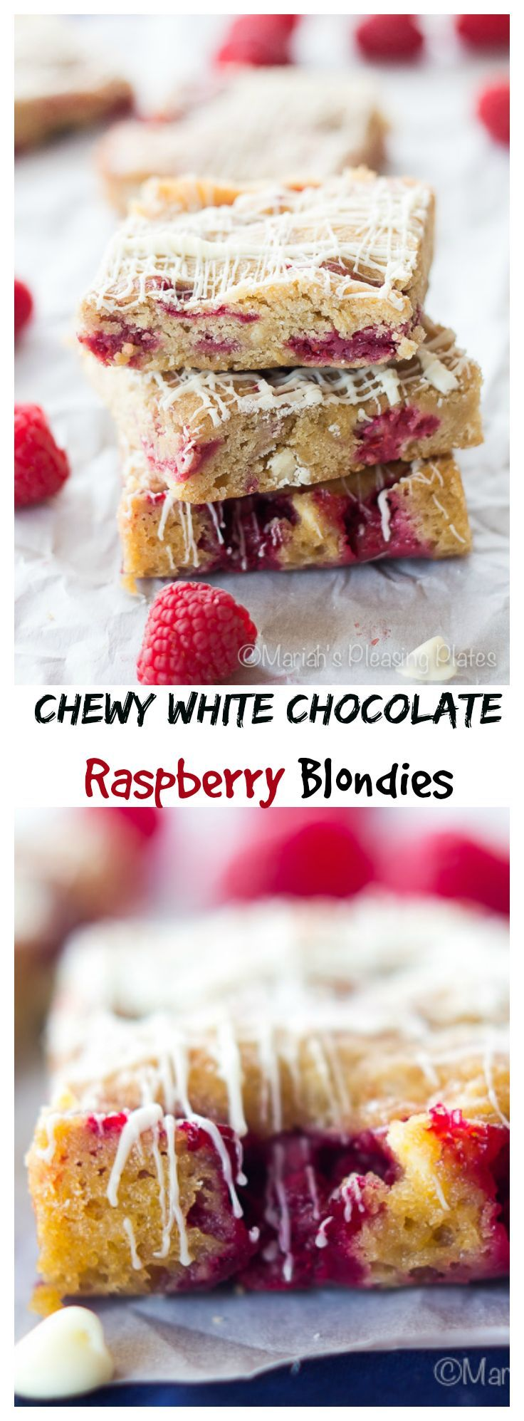Decadence at its finest, these White Chocolate Raspberry Blondies are sure to impress anyone. The perfect chewy texture, combined with juicy, tart raspberries make these treats unforgettable.