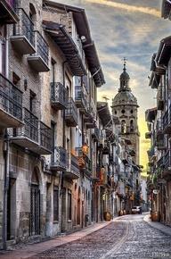 Street of Puente La Reina, Navarra, Spain