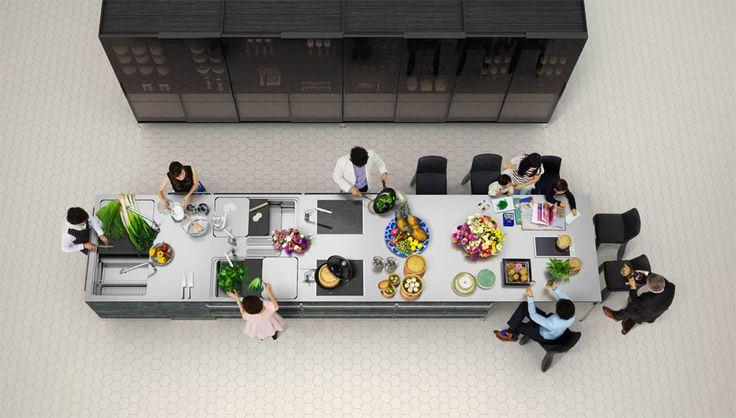 テーマは「世代間コミュニケーション」  約6.5mの巨大キッチン「メガキッチン MEGA KITCHEN」発表 - トーヨーキッチンスタイル