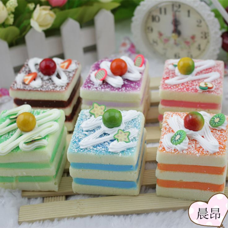 6pcs/lot Home Artificial fake food lifelike color spiral model quality cake colorful cute delicious fruit sketch natural teach