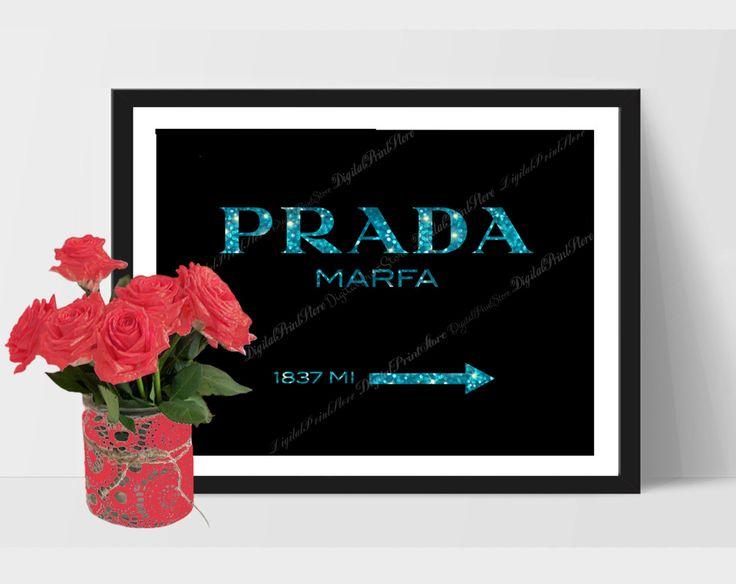 Prada Marfa 02 Logo Print, Prada Glitter Wall, Prada Brand, Fashion Quote, Gossip Girl by DigitalPrintStore on #Etsy #gift #prada #pradamarfa