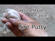 How To Make a Survival Fire Putty - YouTube
