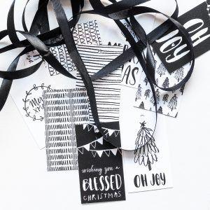 Mono Christmas Gift tags