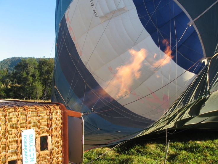 Ever seen a hot air balloon getting filled with hot air?