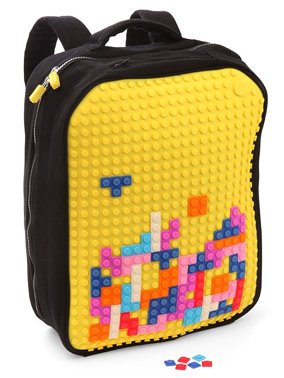 This will be Pip's new bag! pixel art backpack (tetris/lego style) by craziest gadgets