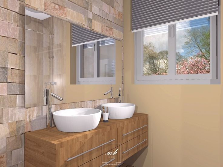 Aménager et redécorer la salle de douche d'une suite parentale par notre #decoratrice Virginie près de Saint-Omer
