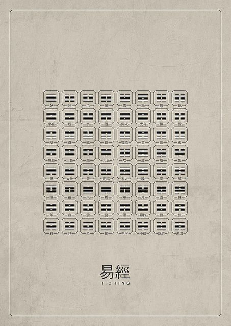 Michael Paukner's work is simple, clean, and a brilliant mash-up of ideas. What a modern way to display the very traditional (and ancient!) I Ching!