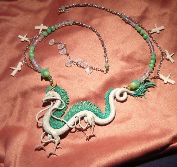 Chihiro : Haku le Dragon collier par MiraCrafts sur Etsy
