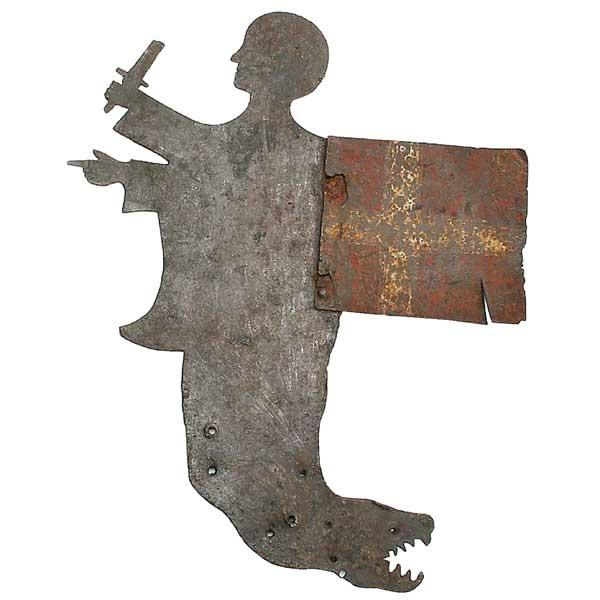 Danish Sheet Iron Sihouette Figural Weather Vane 18th century Ref: M2647