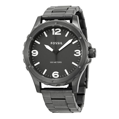 Fossil Nate Grey Dial PVD Stainless Steel Men's Watch (W-JR1457)