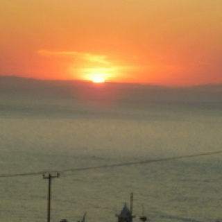 Sunset in Mikonos.