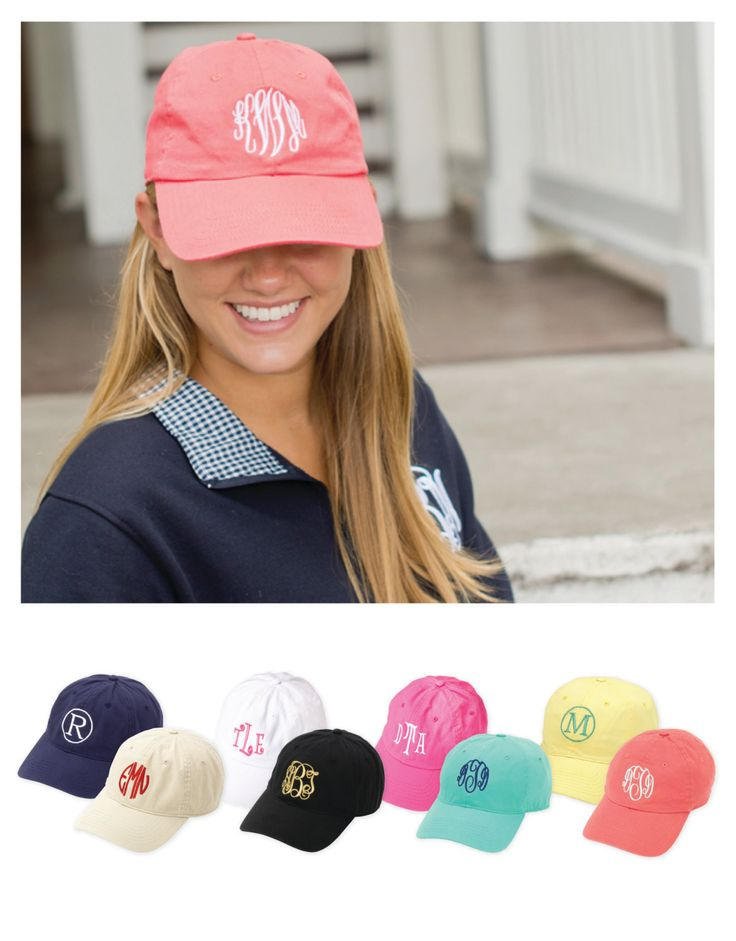 cute sporty preppy monogrammed baseball cap details soft plain caps top brim