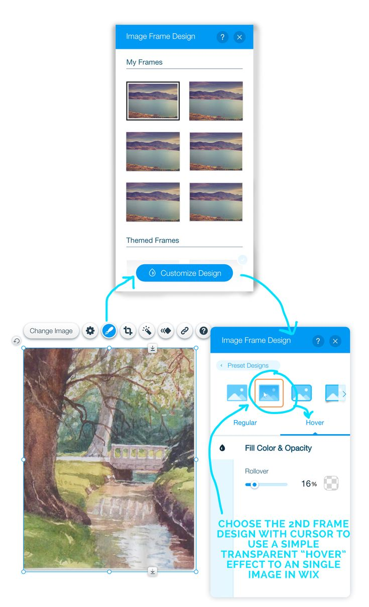 wix how to add image to header