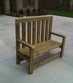 2x4 Backyard Bench