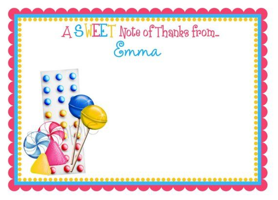 Candy Invitations Gumdrops and Candy Buttons Candy