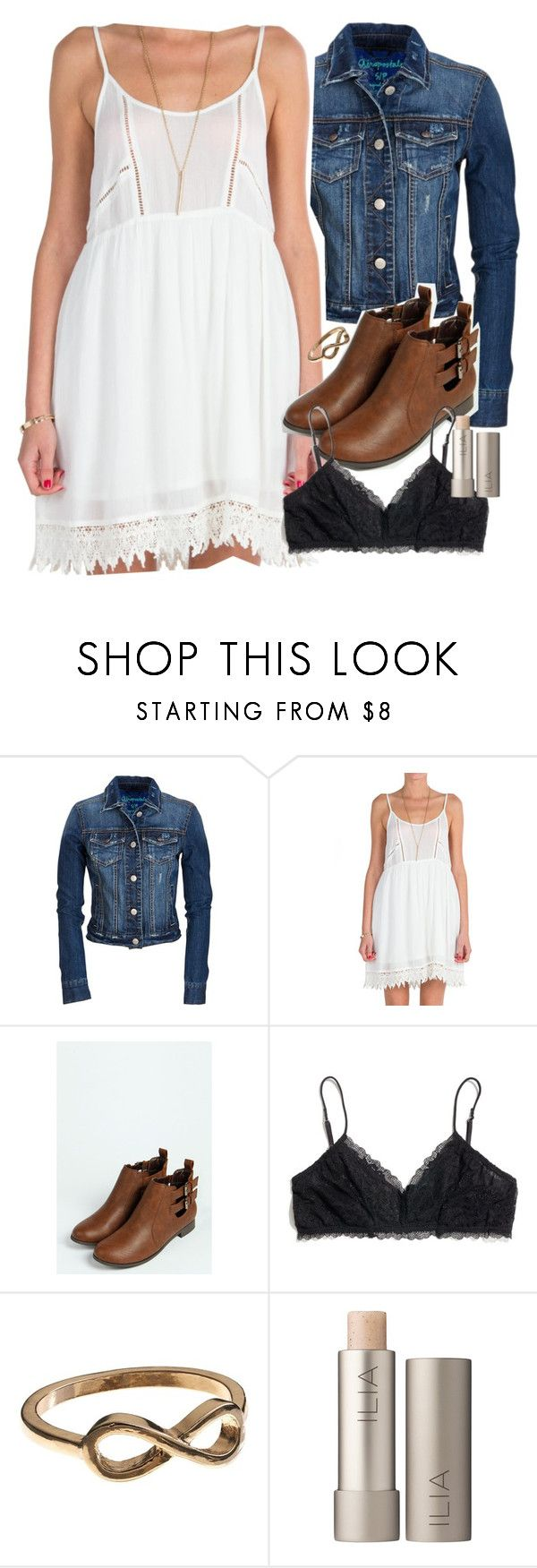 Allison Inspired Summer Outfit with Flats by veterization on Polyvore featuring Lush Clothing, Aéropostale, Madewell, Boohoo, Apt. 9 and Ilia