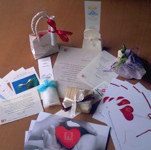 #bombonieresolidali totalmente personalizzabili con un pensiero, un'immagine, una foto #bomboniere #matrimonio #comunione #cresima #laurea