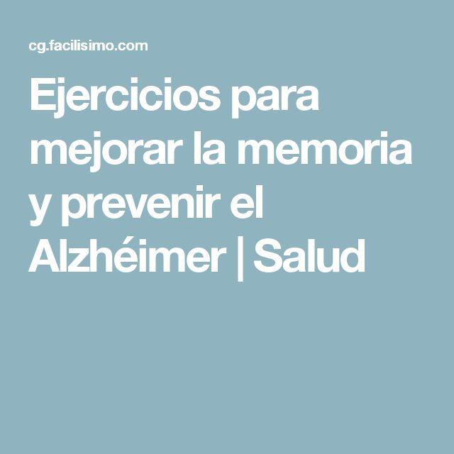Ejercicios para mejorar la memoria y prevenir el Alzhéimer | Salud