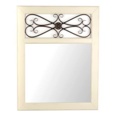 Addison Cream Framed Mirror, 28x36 | Kirklands-lookg for mirror for entryway...this is kinda cool