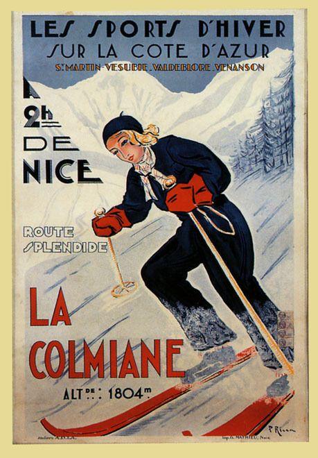 vintage ski poster - France