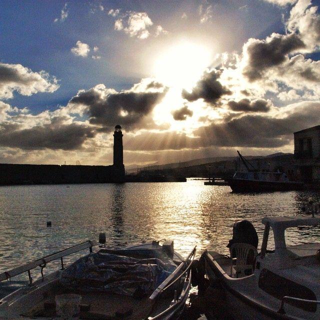 Fantastic #sunset! #Rethymno Photo credits: @eskreta